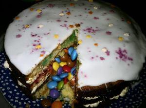Pinata Cake Sliced