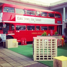 Dining on a Double Decker - the wet weather option